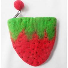 strawberry design purse