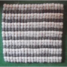 30cmX30cm felt balls rug