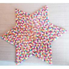 45cmX45cm Felt ball rug