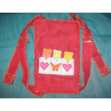 Felt backpack bag with Puppet