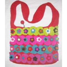 Flowers With Peti Felt Bag
