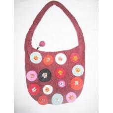 Felt Circle with Bead Bag