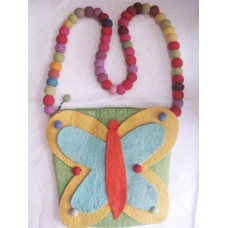 Butterfly Felt bag with Balls handle