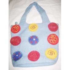 9 circle Crochet Felt Bag