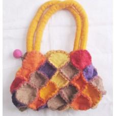 Crochet Circle Felt Bag