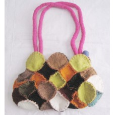 Crcochet Circle Felt bag-1