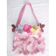 Tiedye 5 Flowers Felt bag