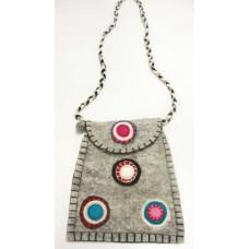 Circle Crochet Folding Felt Bag
