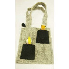 2 Pocket With Puppet Felt Bag