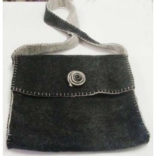 Folding With Spiral Button Felt Bag
