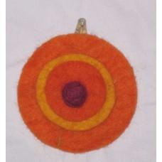 Felt 3 Circle Hairclip