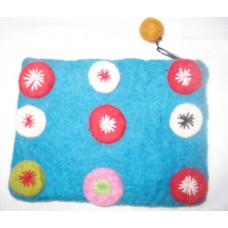 Felt Circle with Crochet Purse