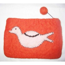 Felt Purse With Bird Design