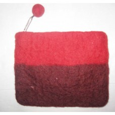 2 color Stripes Felt Coin Purse