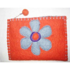 Flower Crochet Purse Felting