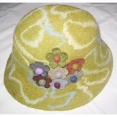 Lining Flower Felt Hat