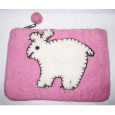 Felt Purse with Animal Design