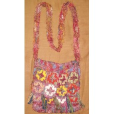 Flowers Recycled silk bag