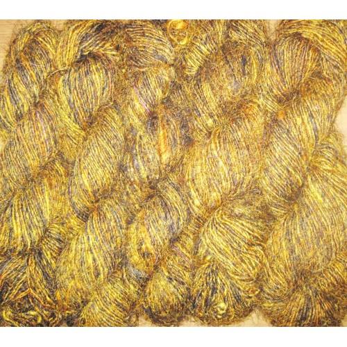 Recycled silk yarn, sari silk fibers wholesale yarn