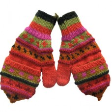 Woolen Cover Gloves Hand Knitted
