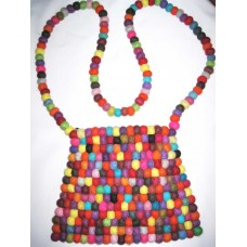 Felt Balls Bag With Double Sided
