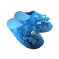 Felt Flower Design Slippers