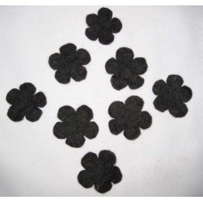 Black Color felt flowers-1000pcs