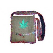 Hemp Silk Border Shoulder Bag