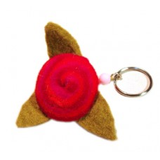 Felt Flower Key Chain