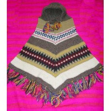 Woolen warm hooded ponchos