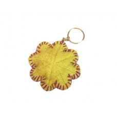 Felt Crochet Flower Key Chain