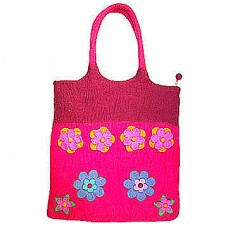 Two Colors Felt Bags in Many flowers