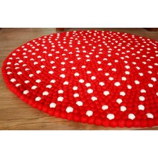 100 cm felt balls (red and white)