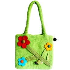 Felt Flowers Handmade Bag-A