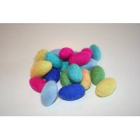 multi bright color felt oval balls-1000pcs
