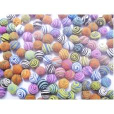Felt Mixed Swirl Balls