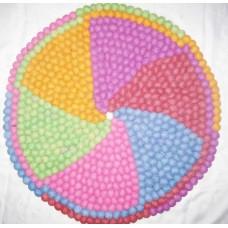Felt Round Balls Mat in 60 cm Diameter