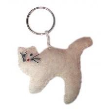 Felt Cat Design Key Chain