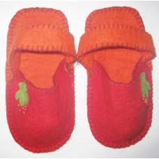 felt strawberry Crochet Slippers