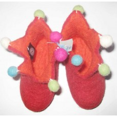Felt Baby Tiny Shoes with pom-poms