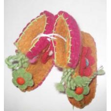 Felt Flower Crochet Baby Shoes