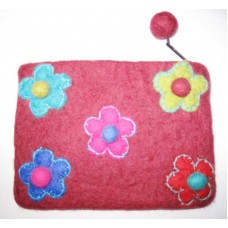 Felt Purse in 5 flower