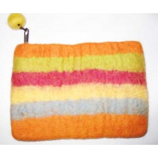 Felt Stripes Purse