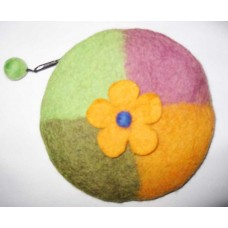 One Flower Round Purse
