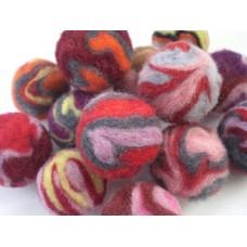 Felt Wool  Swirly Pom-poms
