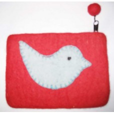 Felt Bird Design Purse