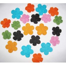 Felt Flowers in Mixed-1000pack